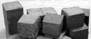 Block shape charcoal briquettes for Barbecue